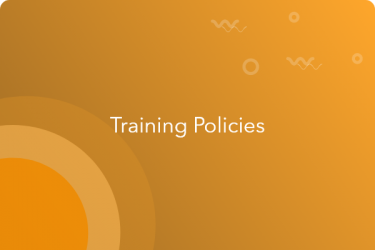Employee training policies