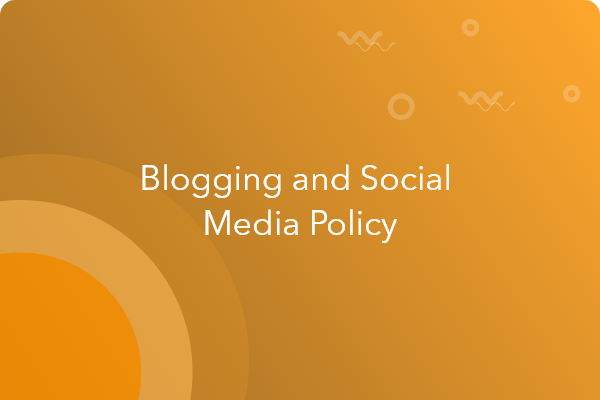 blogging and social media policy