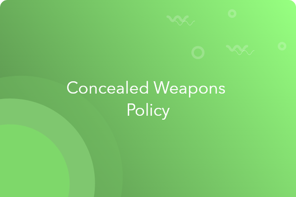 concealed weapon policy