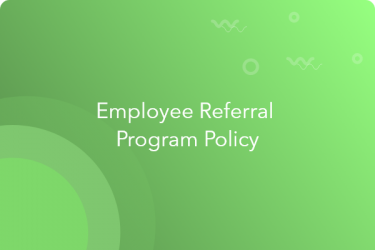 employee referral program policy