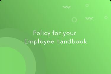 policies in employee handbook