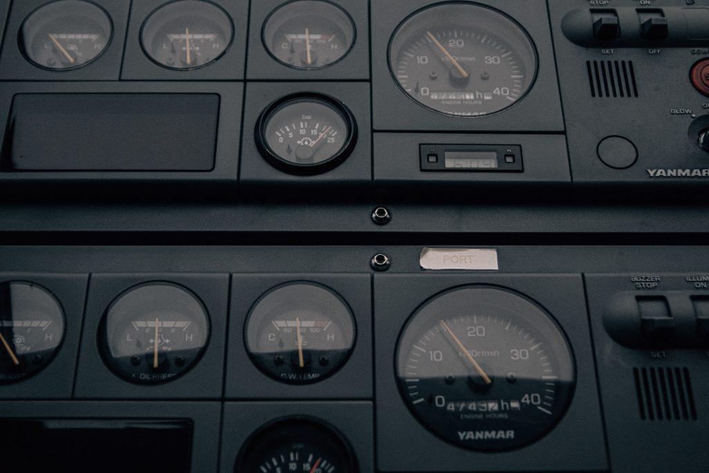 machines showing meter value