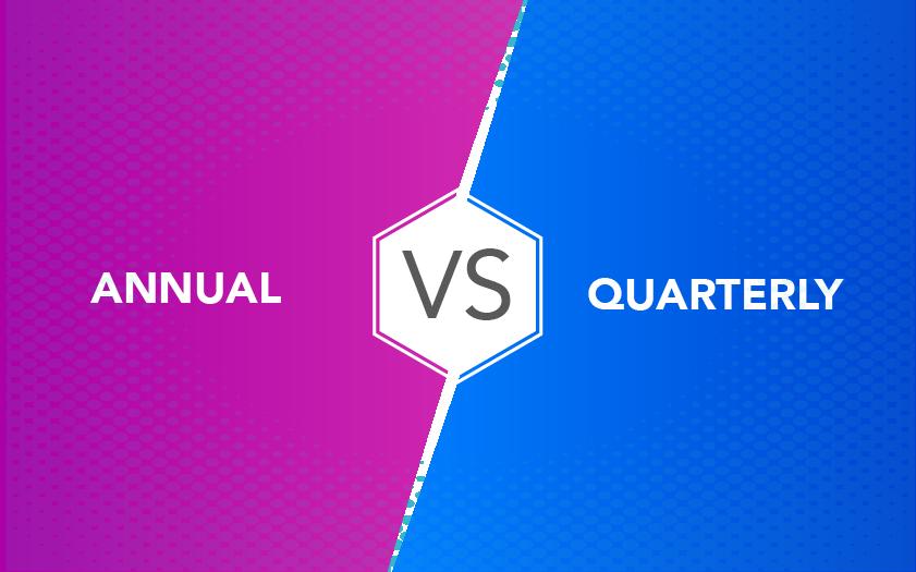 Annual vs Quaterly
