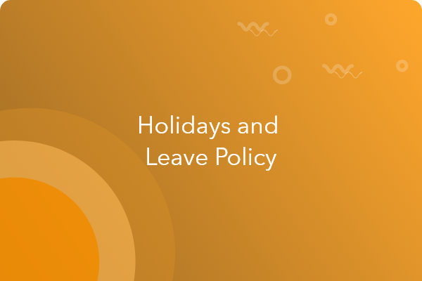 employee holiday and leave policy