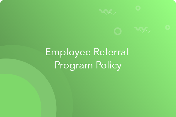 employee referral program policy