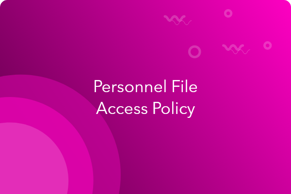 personnel file access policy